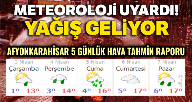 YAĞIŞLI GÜNLER GELİYOR!..