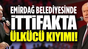 EMİRDAĞ BELEDİYESİNDE ÜLKÜCÜ KIYIMI!..