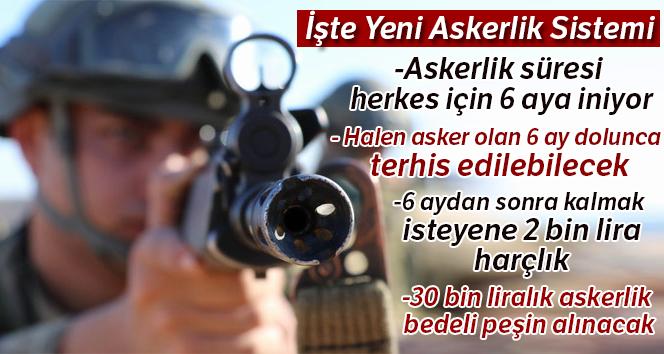 İŞTE YENİ ASKERLİK SİSTEMİ!..