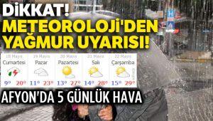 METEOROLOJİİ'DEN YAĞMUR UYARISI!..