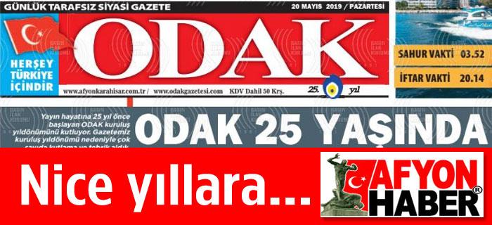 ODAK GAZETESİ 25 YAŞINDA...