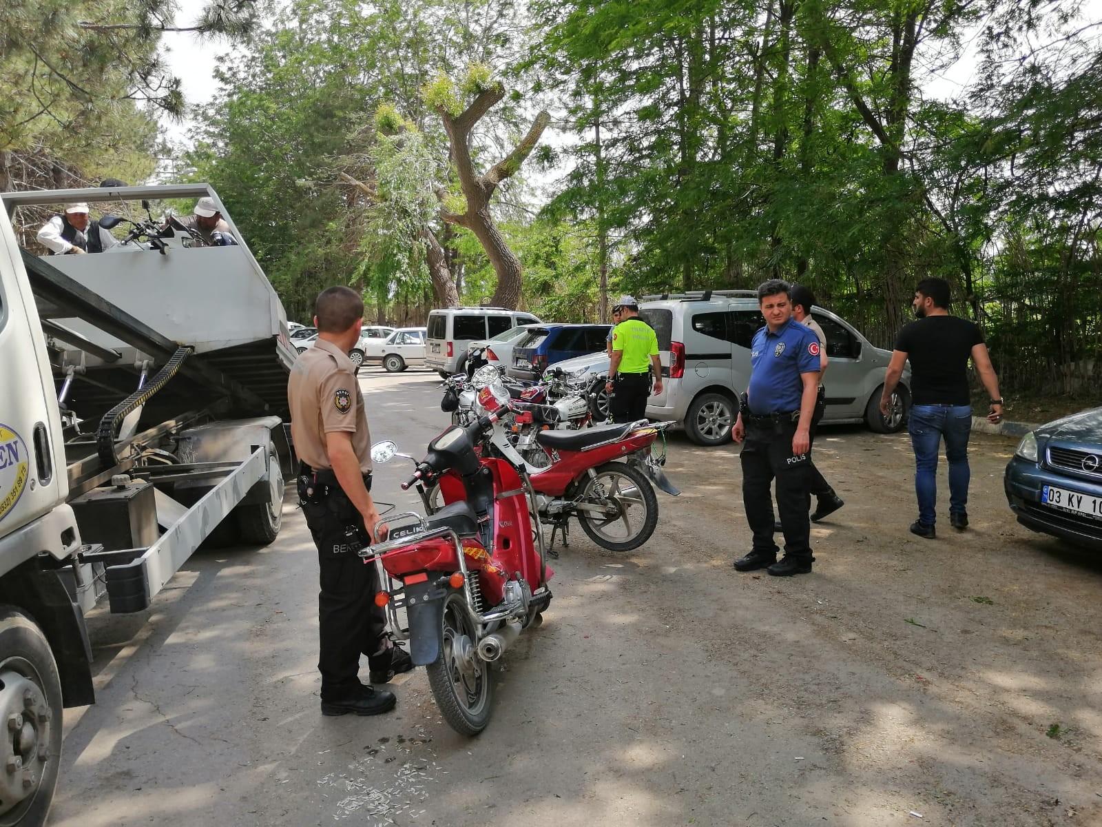 BOLVADİN'DE MOTOSİKLET HUZUR OPERASYONU