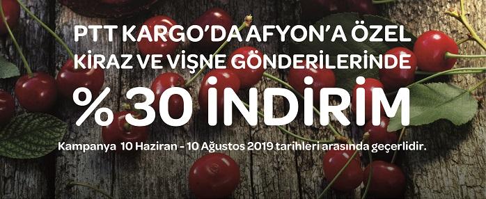 PTT'DEN KİRAZ VE VİŞNE'YE İNDİRİM