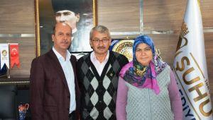 ŞEHİT AİLESİNDEN BAŞKAN BOZKURT'A ZİYARET
