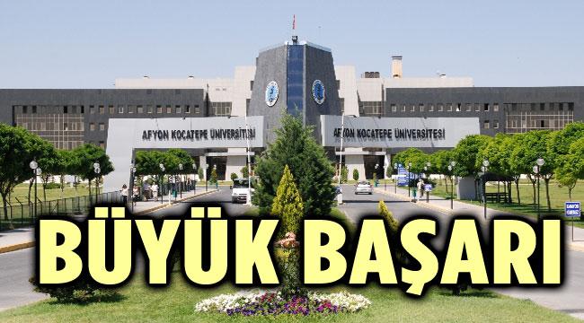 AFYON KOCATEPE ÜNİVERSİTESİ'NDEN BÜYÜK BAŞARI