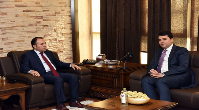 DEMOKRAT PARTİ BAŞKANI UYSAL'DAN REKTÖR KARAKAŞ'A ZİYARET