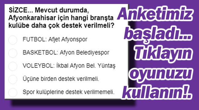 SİZCE ÖNCELİKLİ HANGİ BRANŞA DESTEK VERİLSİN?..