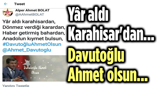 YAR ALDI KARAHİSAR'DAN...