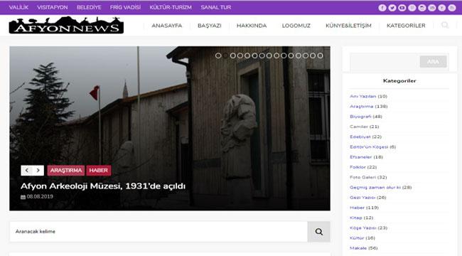 AFYON'UN KÜLTÜR, TURİZM, TARİH, SANAT VE EDEBİYAT PLATFORMU AFYONNEWS'E BÜYÜK İLGİ