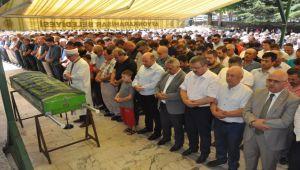 ESKİ BELEDİYE BAŞKANI'NIN OĞLU SON YOLCULUĞUNA UĞURLANDI