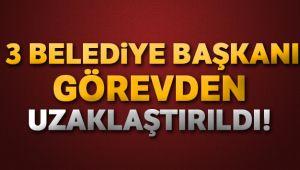 HDP'Lİ 3 BELEDİYE BAŞKANI GÖREVDEN ALINDI
