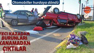 HURDAYA DÖNEN ARAÇLARDA KİMSENİN BURNU KANAMADI!..