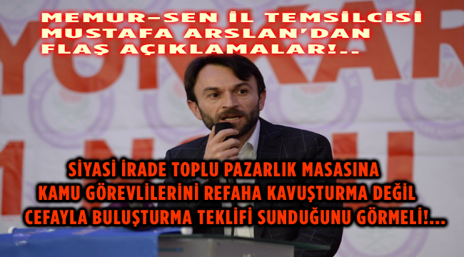 BU TEKLİFİ KABUL ETMİYORUZ!..