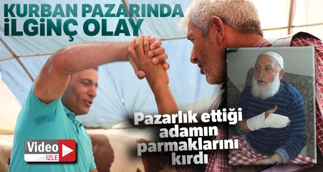 PAZARLIK ETTİĞİ ADAMIN PARMAKLARINI KIRDI