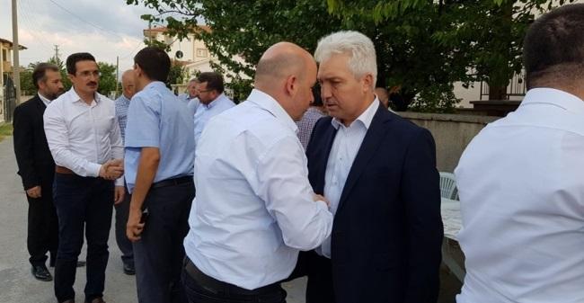 SEZEN, AHMET KOCA'NIN AMCASININ CENAZE NAMAZINA KATILDI