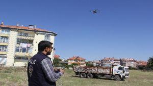 ŞUHUT'TA DRONELU BAYRAM DENETİMİ!..