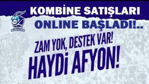 AFYON BELEDİYE BASKET KOMBİNE SATIŞLARI BAŞLADI