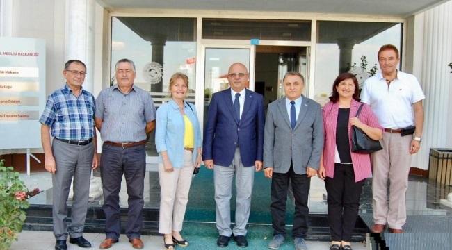 CHP'DEN İGM BAŞKANI ÇOBAN'I ZİYARET