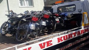 DİNAR'DA EMNİYET TRAFİKTEN MOTOSİKLET UYGULAMASI