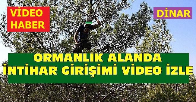 DİNAR'DA İNTİHAR ETMEK İSTEYEN VATANDAŞI JANDARMA KOMUTANI İKNA ETTİ!..
