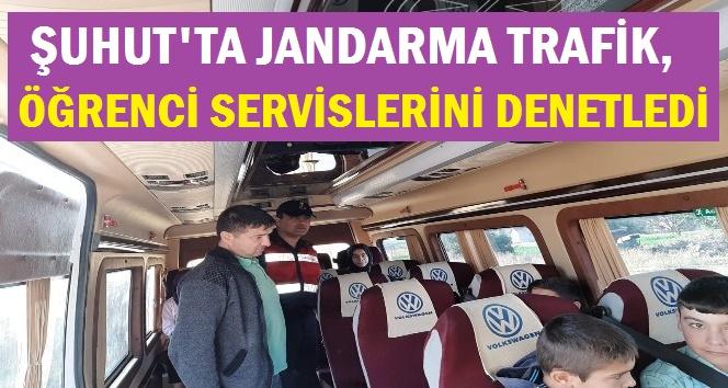 ŞUHUT'TA JANDARMA TRAFİK, ÖĞRENCİ SERVİSLERİNİ DENETLEDİ