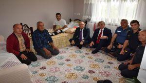 VALİ MUSTAFA TUTULMAZ GAZİ RAMAZAN KUMRAL'I ZİYARET ETTİ