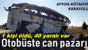 YOLCU OTOBÜSÜ DEVRİLDİ, 2 YAŞINDAKİ BEBEK ÖLDÜ