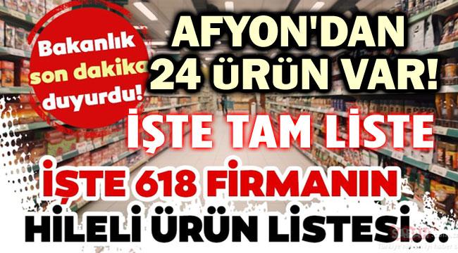 AFYON'DA 24 İŞLETMENİN ÜRÜNÜNDE TAKLİT VE TAĞŞİŞ TESPİT EDİLDİ