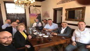 CHP İL BAŞKANI NEVZAT ERCAN'DAN MİMAR VE MÜHENDİSLER ODASINA ZİYARET