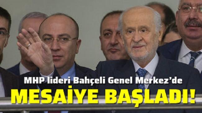 DEVLET BAHÇELİ GENEL MERKEZ'DE