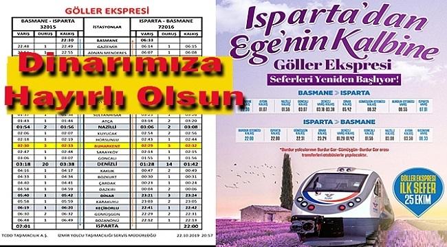 GÖLLER EKSPRESİ SEFERLERE BAŞLIYOR