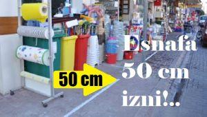 KALDIRIMA 50 CM SINIRI!..