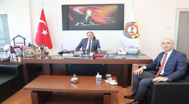 VAKIFBANK OSB ŞUBE MÜDÜRÜ ÇOBAN'DAN SERTESER'E ZİYARET