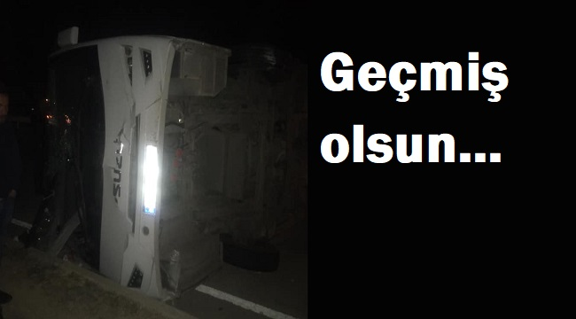 AFJET AFYONSPOR U17 KAFİLESİNİ TAŞIYAN OTOBÜS KAZA YAPTI