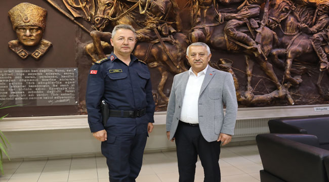 İL JANDARMA KOMUTANI JANDARMA ALBAY HAMZA ÇÖMEZ MEHMET ZEYBEK'İ MAKAMINDA ZİYARET ETTİ