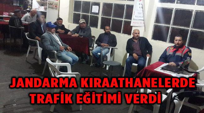 JANDARMADAN KIRAATHANELERDE TRAFİK EĞİTİMİ