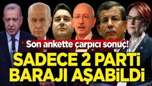 SADECE 2 PARTİ BARAJI AŞIYOR!..