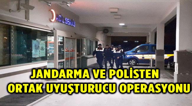 ŞUHUT'TA JANDARMA VE POLİSTEN ORTAK UYUŞTURUCU OPERASYONU