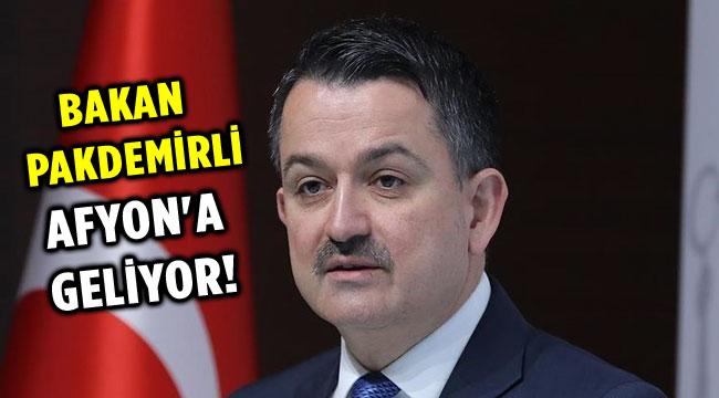 BAKAN PAKDEMİRLİ AFYONKARAHİSAR'A GELİYOR