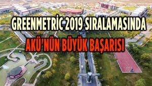 GREENMETRİC 2019 SIRALAMASINDA AKÜ'NÜN BÜYÜK BAŞARISI
