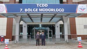 MERDİVENCİ'DEN TCDD BÖLGE MÜDÜRÜ SİVRİ'YE NEZAKET ZİYARETİ