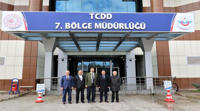TCDD GENEL MÜDÜR DANIŞMANI VE TRAFİK DAİRE BAŞKANI 7.BÖLGE DE İNCELEMELERDE BULUNDU