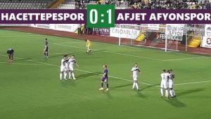 AFJET AFYONSPOR, HACETTEPE'Yİ AVLADI: 0-1
