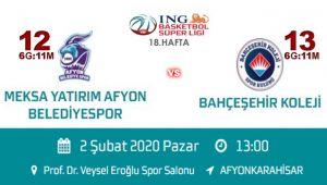 AFYON BASKET'İN RAKİBİ BAHÇEŞEHİR KOLEJİ!..