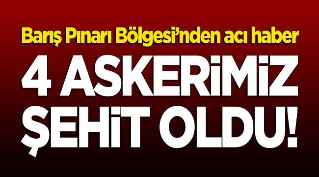 BARIŞ PINARINDA 4 ASKER ŞEHİT OLDU