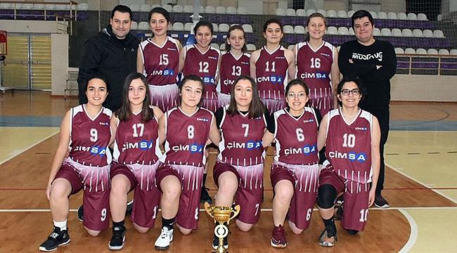 BASKETBOL U18 KIZLARDA ÇİMENTOSPOR ŞAMPİYON OLDU