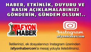 GÖNDERİN, AFYONHABER'DE GÜNDEM OLSUN!..