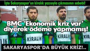 SAKARYASPOR'DA BÜYÜK KRİZ!..