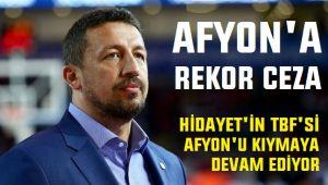 TBF'DEN AFYON BASKETBOL'A ÇOK AĞIR CEZA!..