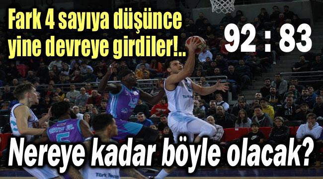 TBF'NİN HAKEMLERİ YİNE ŞAŞIRTMADI!..